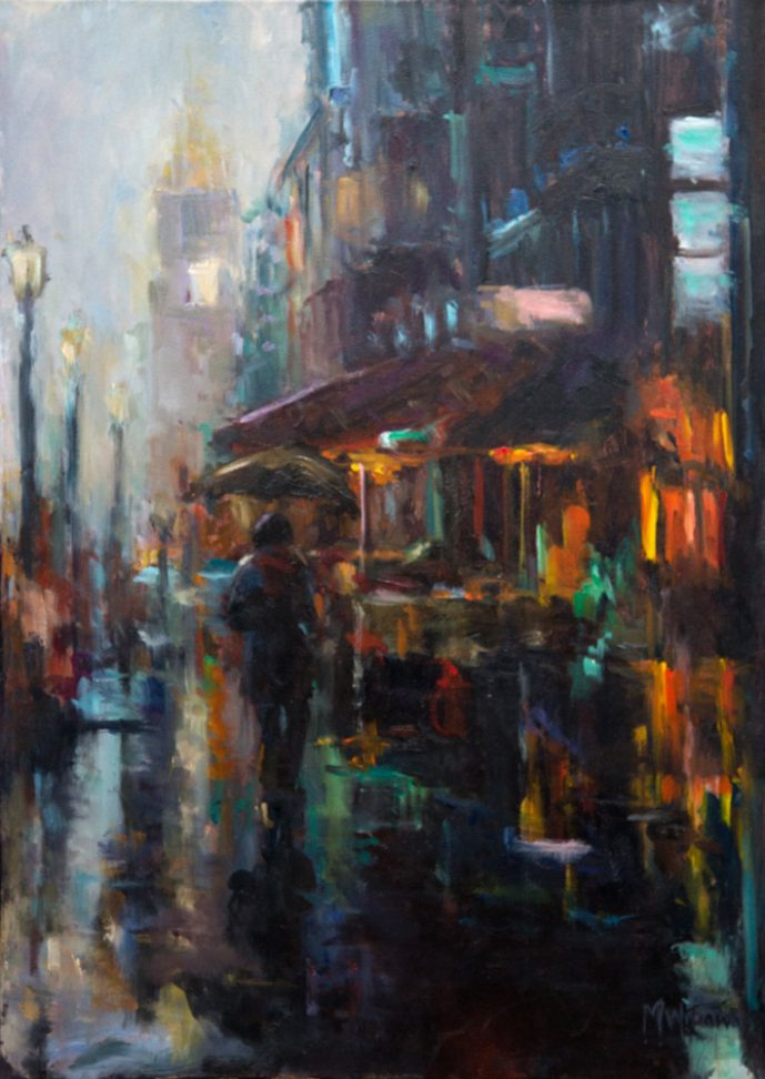 'In the rain(2)', 70x50 cm,Oil painting on canvas