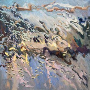 Rain on me (5), olieverf op linnen, 80 x 80 cm