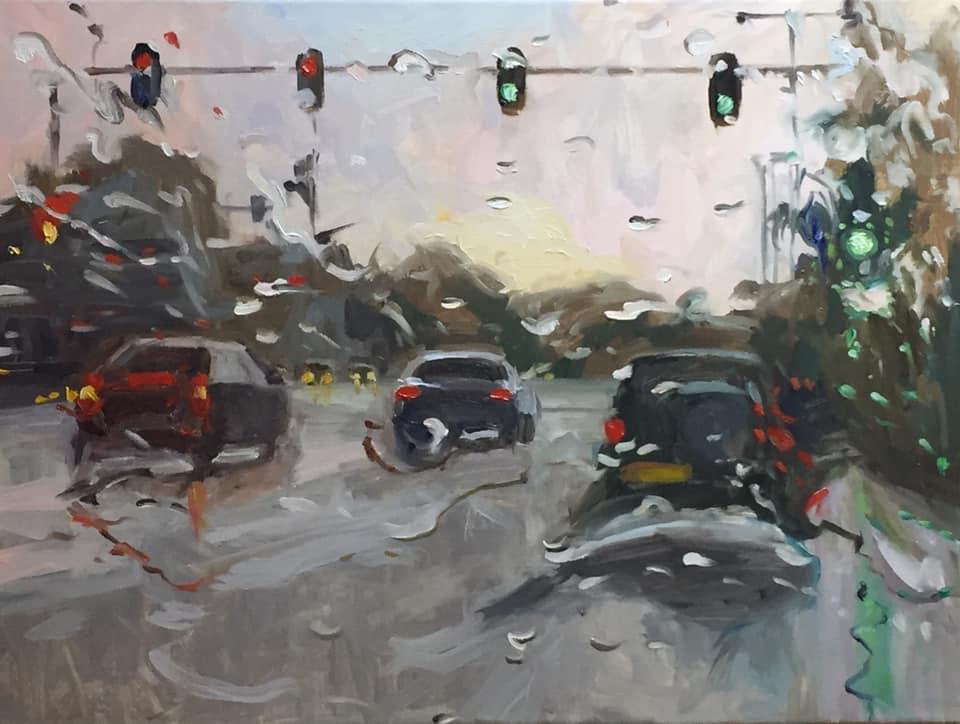 Rain on me (18), olieverf op linnen, 60 x 80 cm, 2019