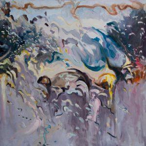 Rain on me (25), olieverf op linnen, 100 x 100 cm, 2019