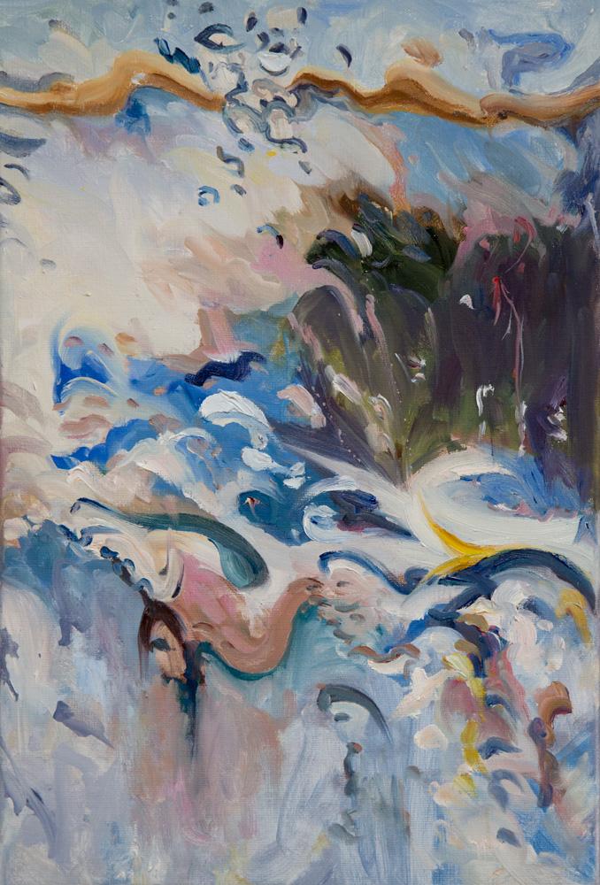 1 - Rain on me (27), olieverf op linnen, 60 x 40 cm