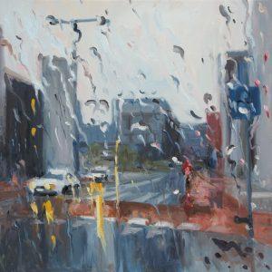 Rain on me (21), olieverf op linnen, 70 x 70 cm, 2019