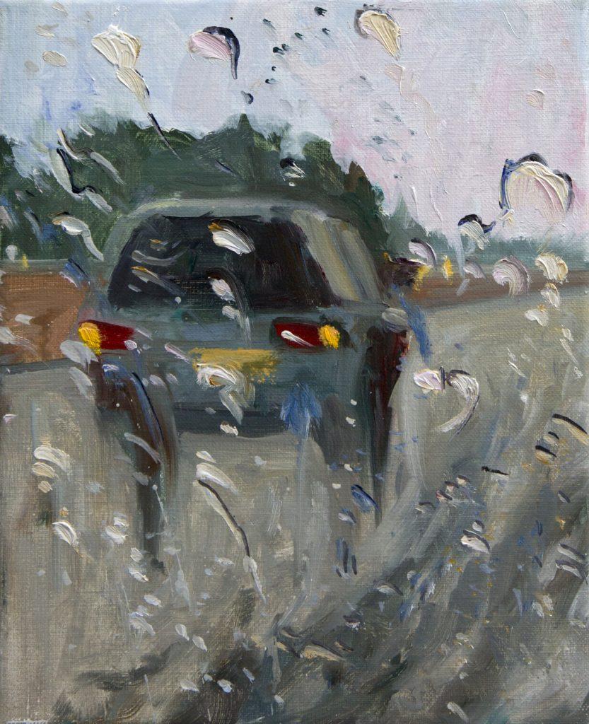 Rain on me (29), olieverf op linnen, 30 x 24 cm, 2019