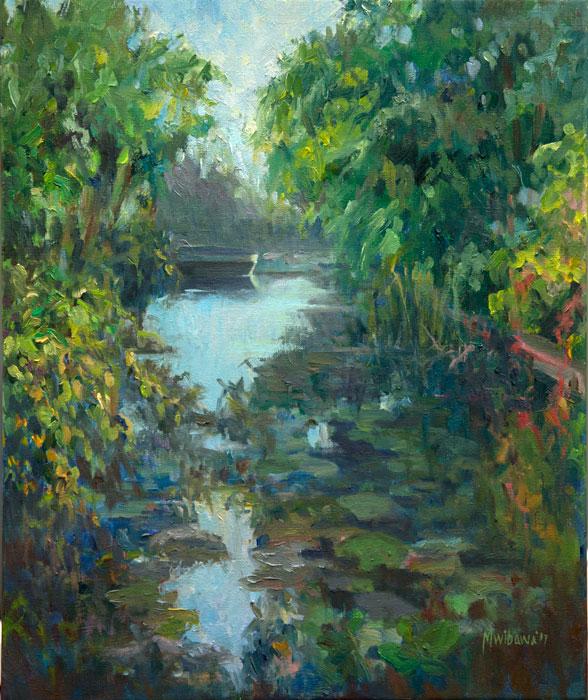 Een mooie dag 60 x 50 cm oil painting on linen plein air schilder melda wibawa - Een mooie kamer van een mooie meid ...