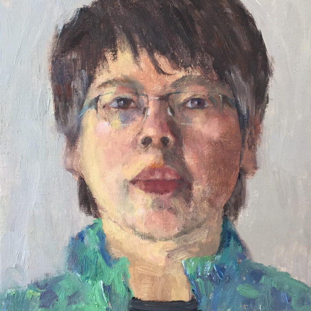 4 - Zelfportret 2020, 30 x 30 cm - portret in opdracht - ntk