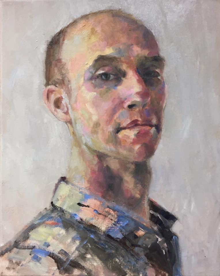 5 - Liefde - olieverf op doek - 50 x 40 cm - 2020 - portret in opdracht - ntk