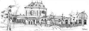 Station Leeuwarden 20x60cm