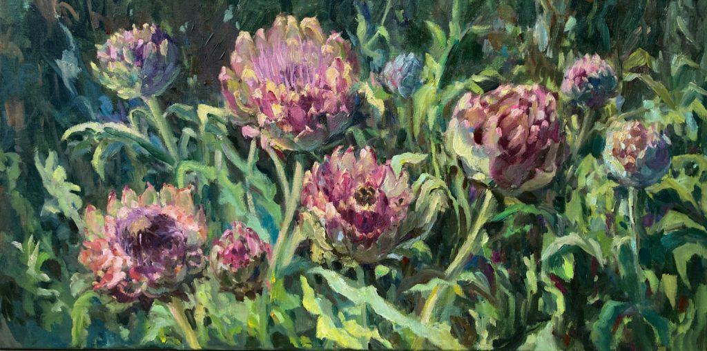 'Artisjokken' - 40 x 80 cm - particulier collectie