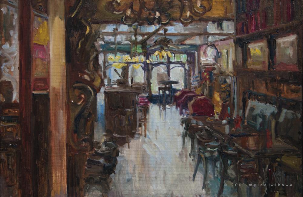 Melda Wibawa, 40x60cm, Grand cafe De Dikke van Dale, 2021