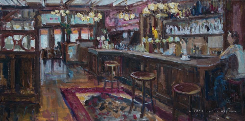 Melda Wibawa, 40x80, Fire Cafe, 2021