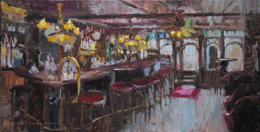 Melda Wibawa, 40x80cm, 2021, Grand cafe De Dikke van Dale