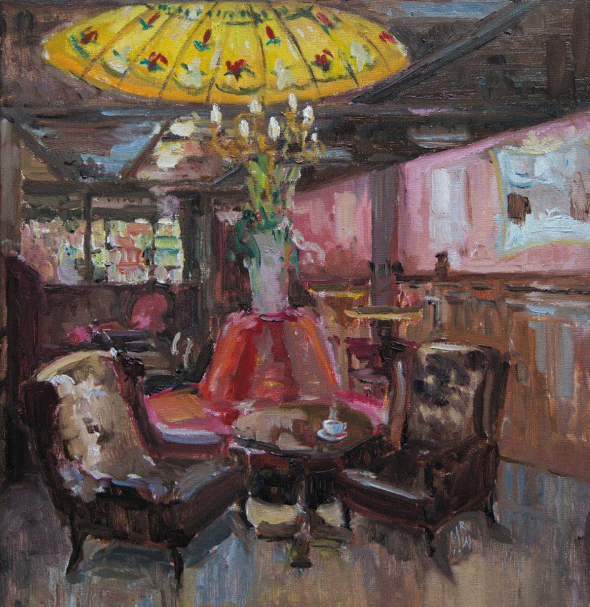 Melda Wibawa, 60x50cm, 2021, Grand cafe De Dikke van Dale