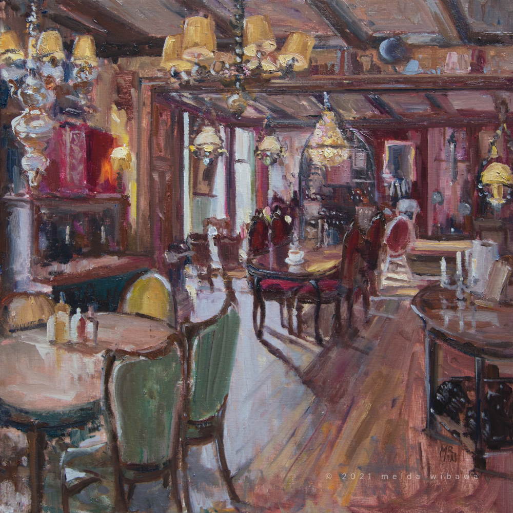 Melda Wibawa, 60x60cm, 2021, Restaurant Bergsma Easterein