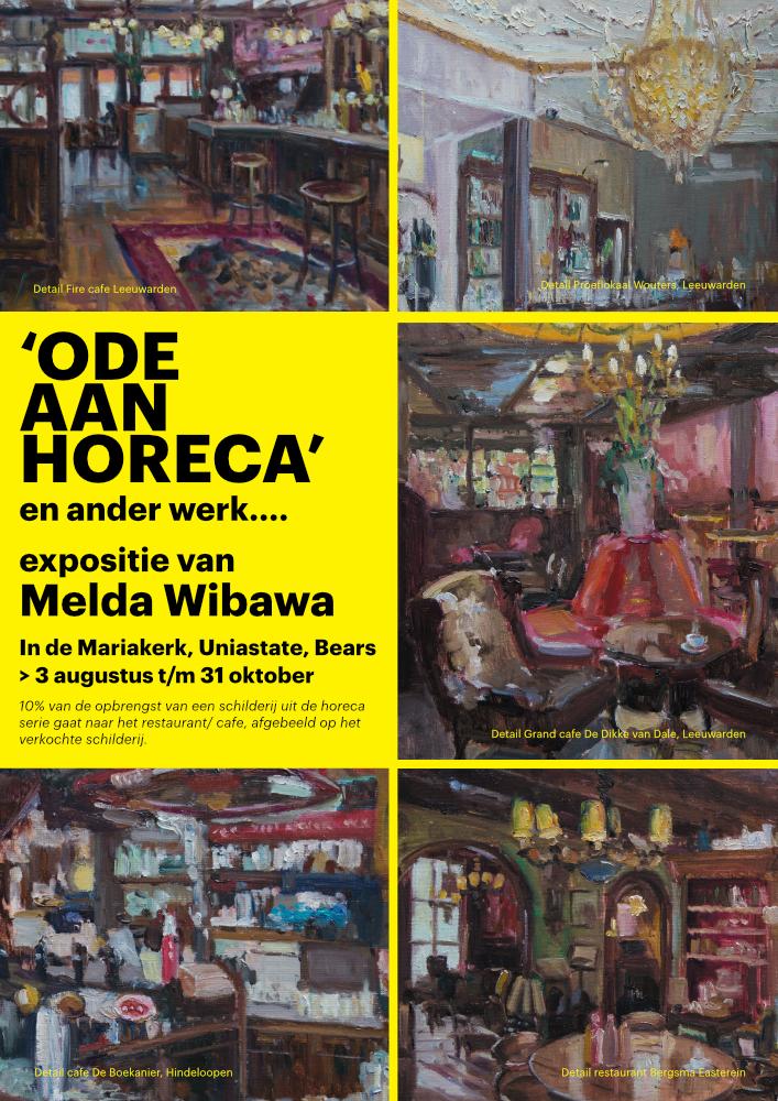 Poster Ode aan Horeca - kunstproject van Melda Wibawa - 2021